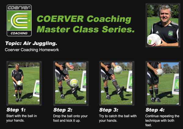 Air Juggling – A Coerver Coaching Master Class