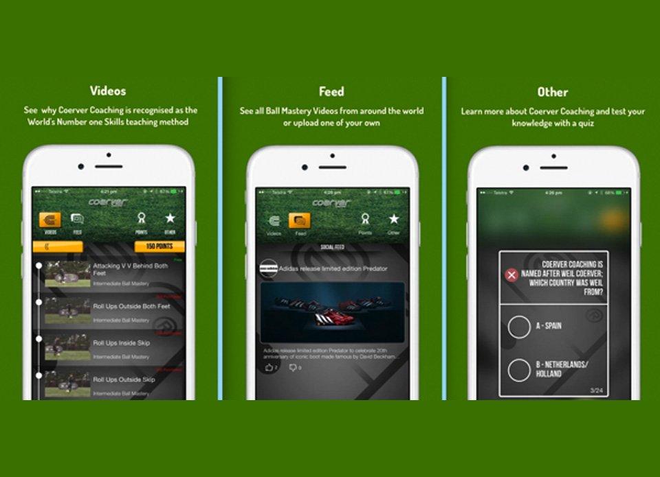 Coerver Coaching Soccer Skills App