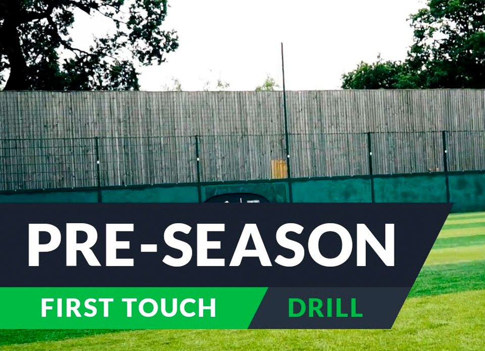 Pre-season training for football: First touch drills